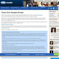 Voice Over Sample Scripts