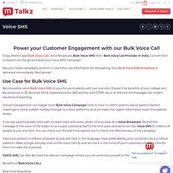 The New Avatar OF SMS Marketing-Bulk Voice SMS