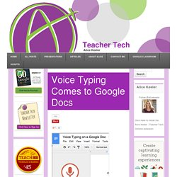 Voice Typing Comes to Google Docs