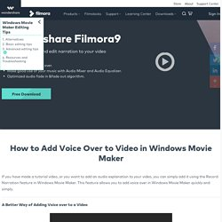How to Add Voice Over to a Video in Windows Movie Maker