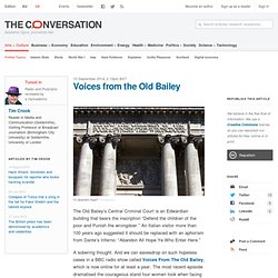 Voices from the Old Bailey