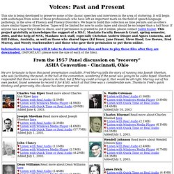 Voices from the past