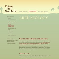 Voices of the Sandhills: Archaeology