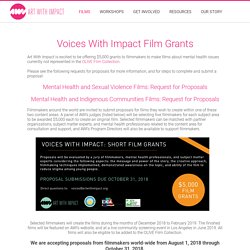 Voices With Impact Film Grants - Art With Impact : Art With Impact