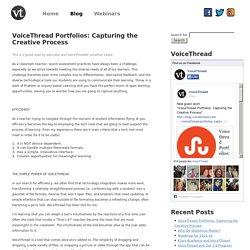 VoiceThread Portfolios: Capturing the Creative Process - My VoiceThread