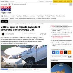 Voici le film de l'accident provoqué par la Google Car - 11 mars 2016