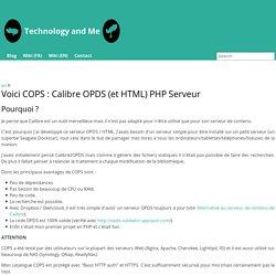Voici COPS : Calibre OPDS (et HTML) PHP Serveur