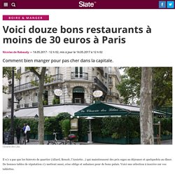 Voici douze bons restaurants à moins de 30 euros à Paris