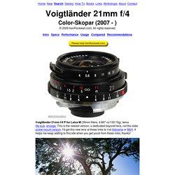 Voigtländer 21mm f/4
