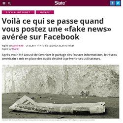 Voici ce qui se passe quand vous postez une «fake news» avérée sur Facebook