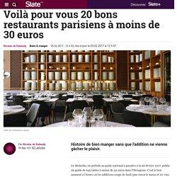 Voilà pour vous 20 bons restaurants parisiens à moins de 30 euros