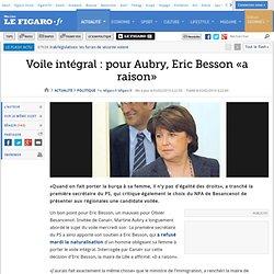 Aubry : Besson a raison