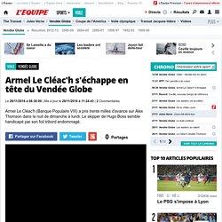 Armel Le Cléac'h s'échappe en tête du Vendée Globe