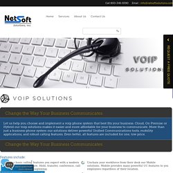 VOIP Solutions - Netsoft Solutions, Inc.