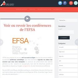 EFSA via TWITTER 20/11/15 Voir ou revoir les conférences de l'EFSAExpo2015