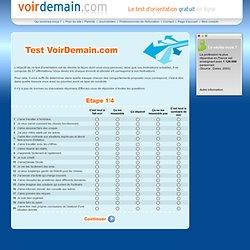 Test d'orientation gratuit en ligne - Etape 1/4