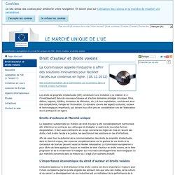 Commission européenne » Marché Intérieur » Droit d'auteur et droits voisins