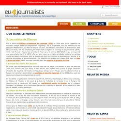 L'UE dans le Monde - 5. Les voisins de l'Europe - Contact Guide - EU4JOURNALISTS