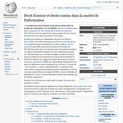 Droit d'auteur et droits voisins dans la société de l'information