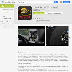 Torque Pro (OBD2 / voiture)