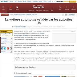La voiture autonome validée par les autorités US