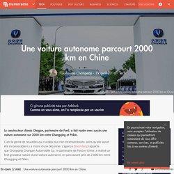 Une voiture autonome parcourt 2000 km en Chine - Tech