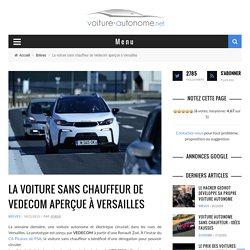 La voiture sans chauffeur de Vedecom aperçue à Versailles
