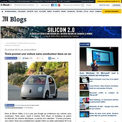 Tesla promet une voiture sans conducteur dans un an