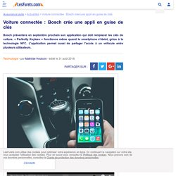 Voiture connectée: Bosch crée une appli en guise de clés