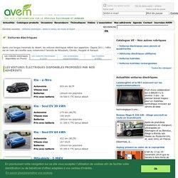 Voiture électrique - Liste des modèles disponibles en France