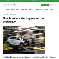 Non, la voiture électrique n'est pas écologique