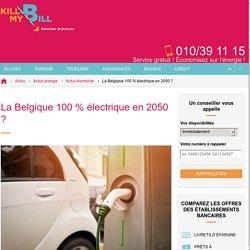 D'ici 2050, la voiture électrique seule sur le marché belge ?