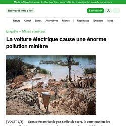 La voiture électrique cause une énorme pollution minière