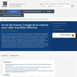 En Ile-de-France, l'usage de la voiture pour aller travailler diminue