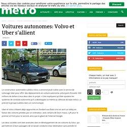Voitures autonomes: Volvo et Uber s'allient