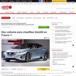 Des voitures sans chauffeur bientôt en France ?