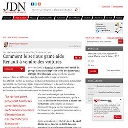 Comment le serious game aide Renault à vendre des voitures - Serious games en entreprise - Journal du Net Solutions