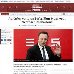 Après les voitures Tesla, Elon Musk veut électriser les maisons