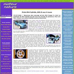 Proto Mini hybride, 640ch aux 4roues - voitures-hybrides-projets-concepts - autres-marques-artisans