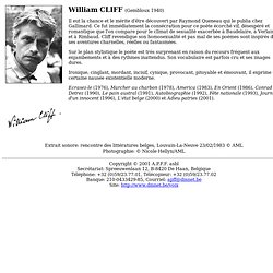 Voix d'auteurs: William Cliff