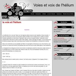 la voix et l'hélium