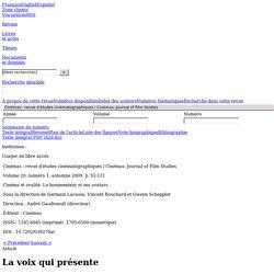 Cinémas v20 n1 2009, p.91-111