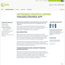 Vokabeltrainer-App - Unterwegs Deutsch lernen