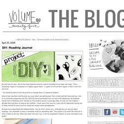 vol.25: DIY: Roadtrip Journal