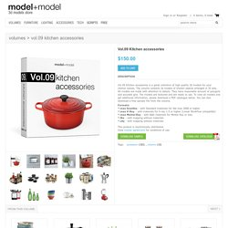 Vol.09 Kitchen accessories 3d model