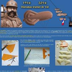 Cerfs-volants d'Observation - Guerre 14-18 - diorama Carnet de Vol