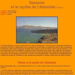 Le volcan Santorin