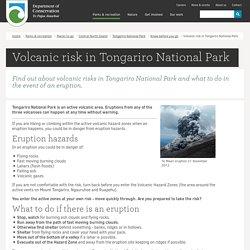 Volcanic risk in Tongariro National Park: Tongariro National Park