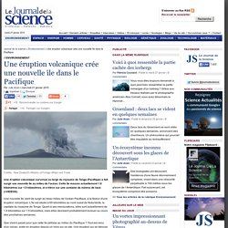 Une éruption volcanique crée une nouvelle île dans le Pacifique