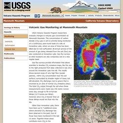 Volcano Hazards Program CalVO Mammoth Mountain